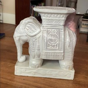 Accents - Ceramic Asian Elephant/ Pedestal